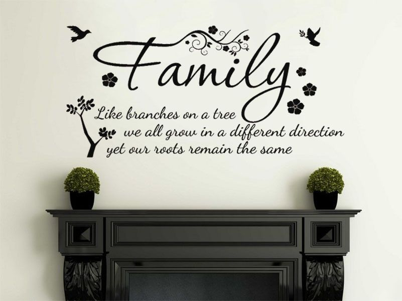 Family Wall Quote Like Branches On A Tree Vinyl Sticker
